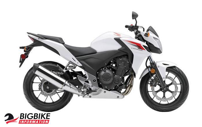 ภาพ Honda CB500F สีขาว ด้านข้าง