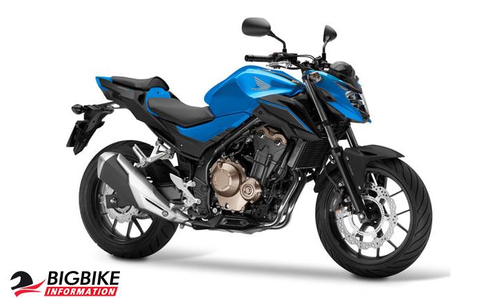 ภาพ Honda CB500F สีน้ำเงิน