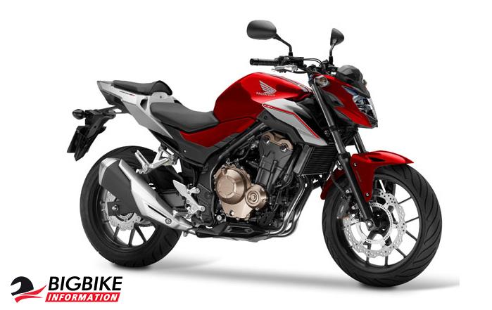 ภาพ Honda CB500F สีแดง