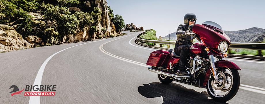 ภาพ Harley Davidson TOURING STREET GLIDE สีแดง