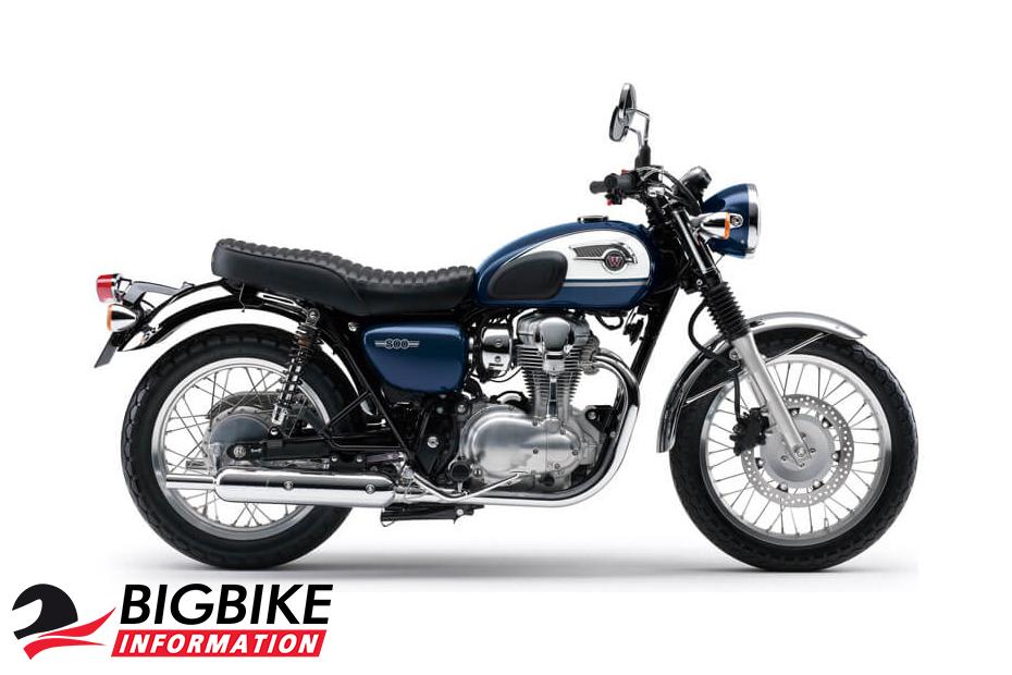 Kawasaki W800 สีน้ำเงิน ด้านข้าง