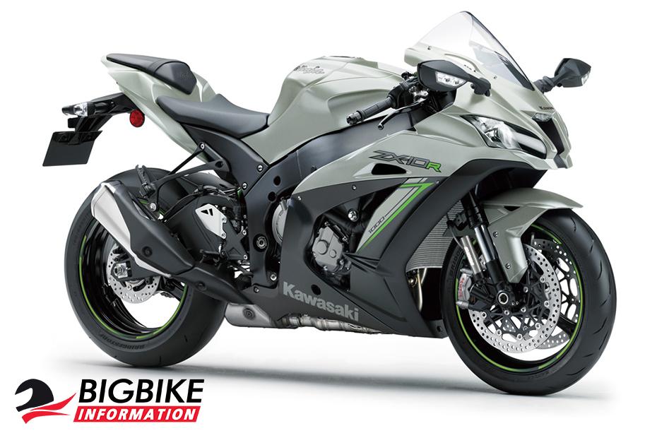 ภาพ Kawasaki Ninja ZX10R KRT สีเงิน