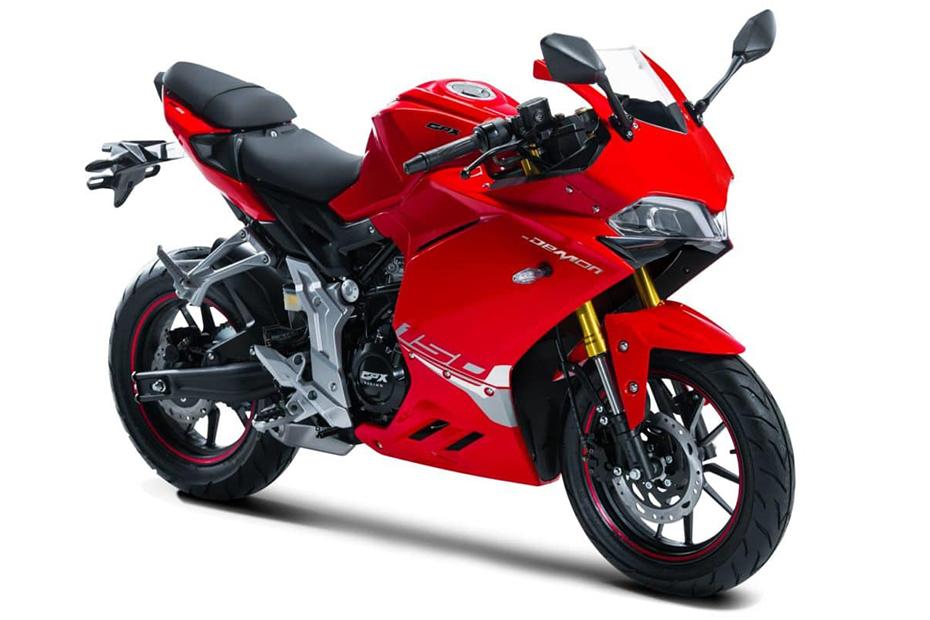 ภาพ GPX DEMON 150GR สีแดง ด้านหน้า