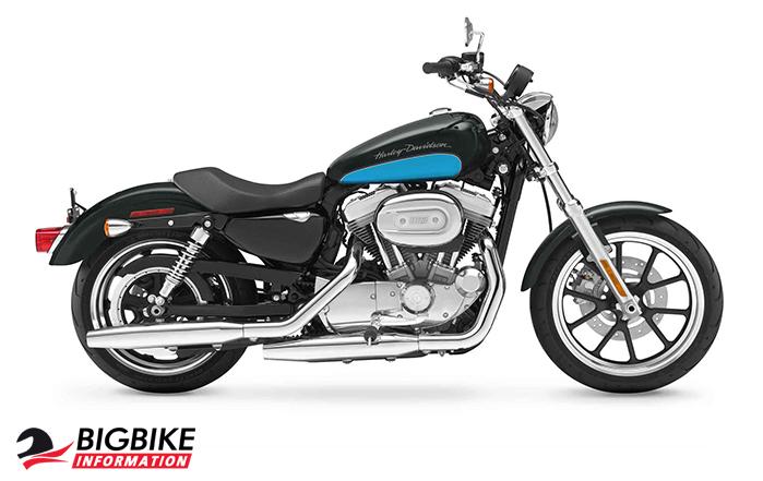 ภาพ Harley Davidson Sportster Superlow สีดำ ด้านข้าง