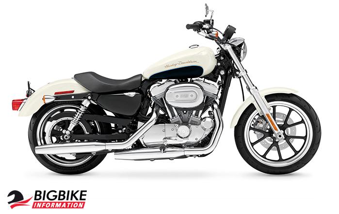 ภาพ Harley Davidson Sportster Superlow สีขาว ด้านข้าง