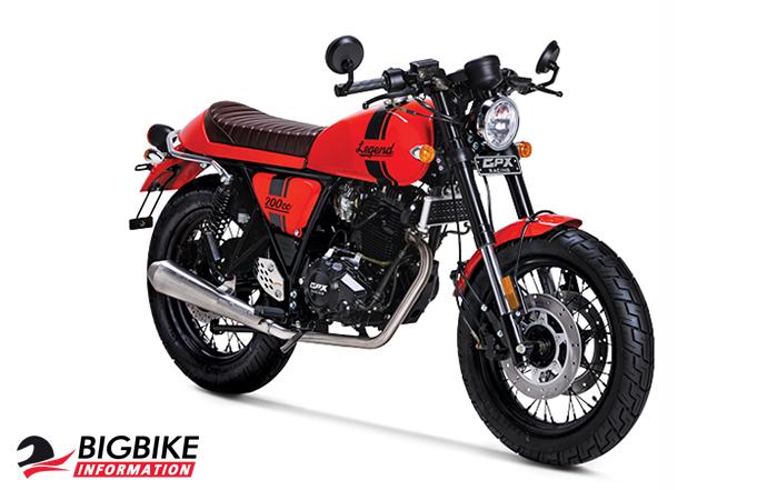 ภาพ GPX LEGEND 200 สีแดง ด้านหน้า