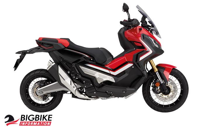 ภาพ Honda X-ADV สีแดง ด้านข้าง
