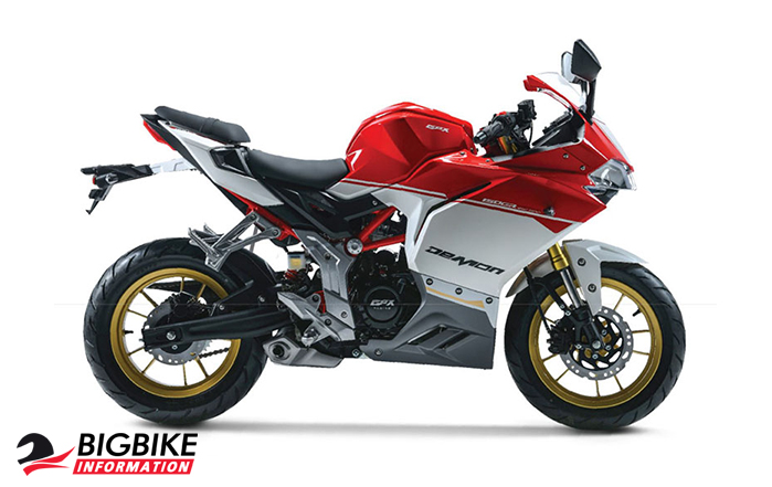 ภาพ GPX DEMON 150GRSport Edition สีแดง ด้านข้าง