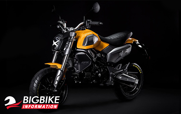 ภาพ GPX DEMON X 125 สีเหลือง ด้านหน้า