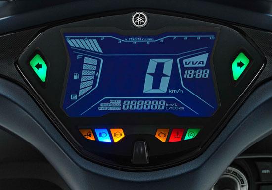 หน้าปัดเรือนไมล์แบบ ดิจิตอล NEGATIVE ขนาด 5.8 นิ้ว แสดงผลมาตรวัดความเร็ว มาตรวัดรอบเครื่องยนต์