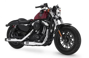ภาพ Harley Davidson Sportster Forty Eight สีแดง