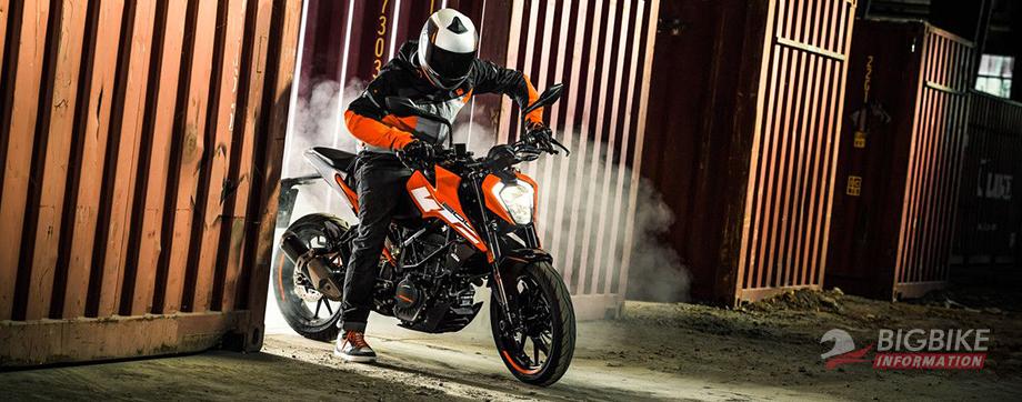 ภาพ KTM Duke 250 สีส้ม