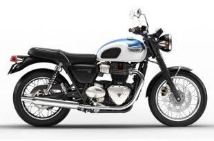 Triumph Bonneville T100 สีน้ำเงิน