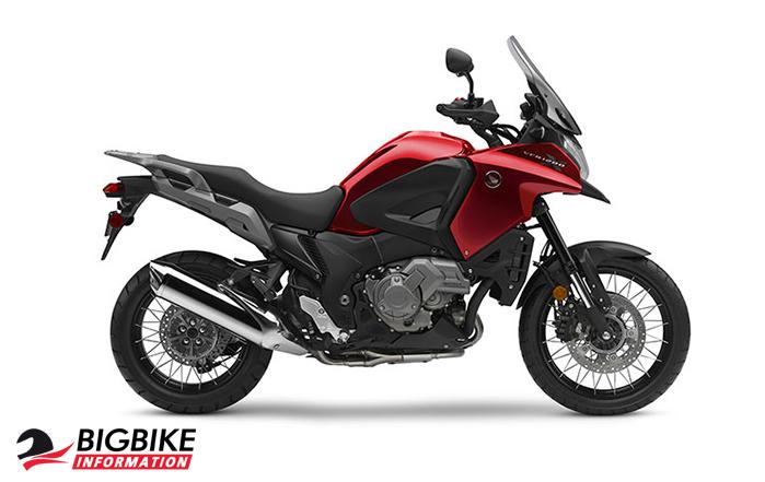 ภาพ Honda VFR1200X สีแดง ด้านข้าง