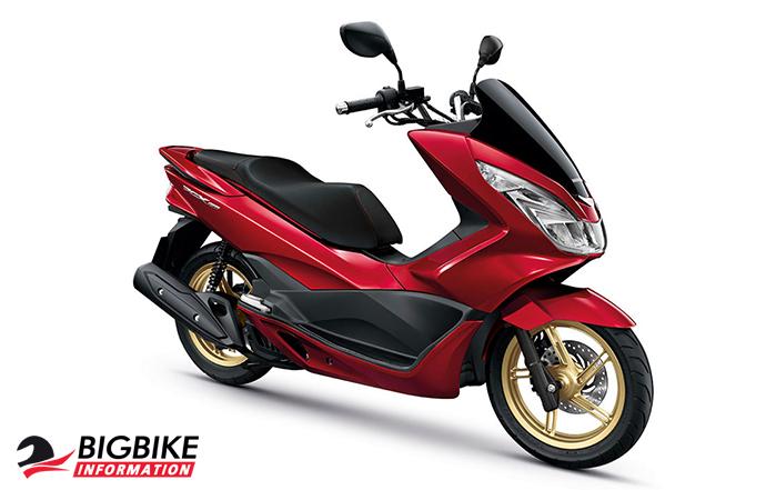 ภ่พ Honda PCX 150 สีแดง
