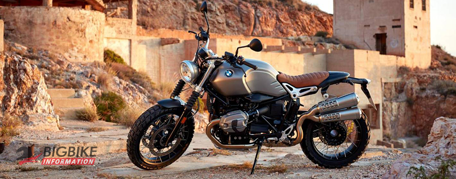 ภาพ BMW R NINE T SCRAMBLER สีเงิน ด้านข้าง