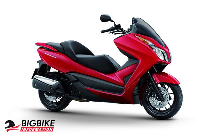 ภาพ Honda Forza 300 สีแดง 2013
