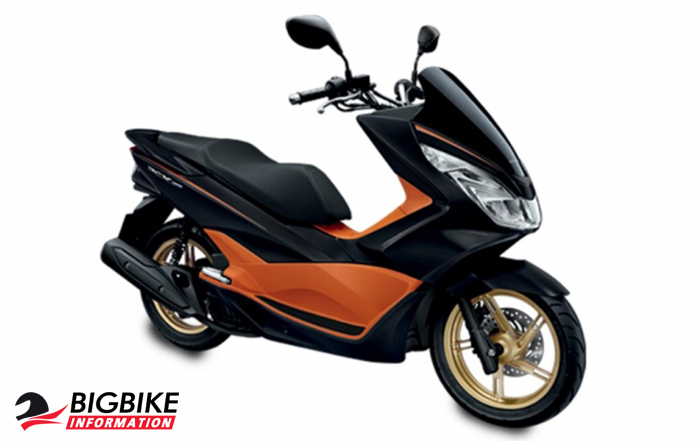 ภาพ Honda PCX 150 สี ส้ม-ดำ