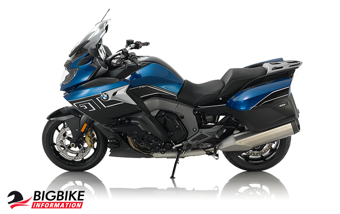 ภาพ BMW K 1600 GT สี Lupin blue metallic / Black storm metallic ด้านข้าง