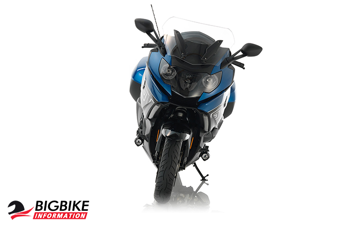 ภาพ BMW K 1600 GT สีLupin blue metallic / Black storm metallic ด้านหน้า