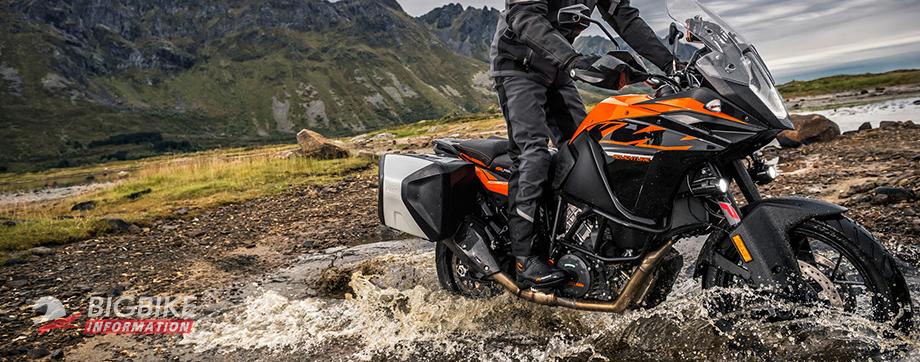ภาพ KTM 1090 Adventure สีดำ ด้านข้าง