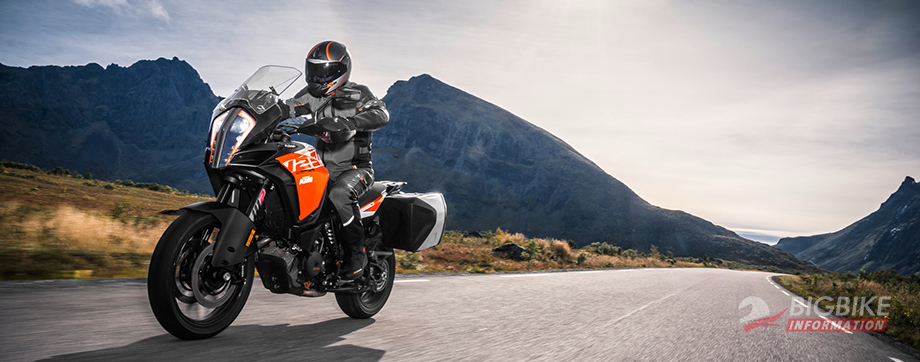 ภาพ KTM 1290 Super Adventure S สีส้ม ด้านหน้า