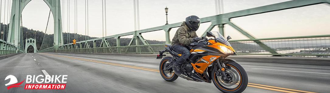 ภาพ Kawasaki Ninja 650 2019 สีส้ม