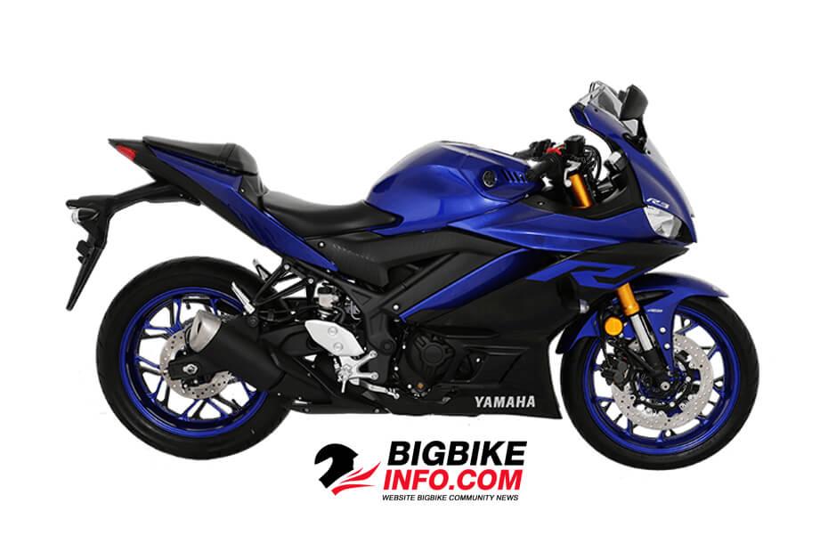 สีน้ำเงิน-ดำ Yamaha YZF-R3 2019