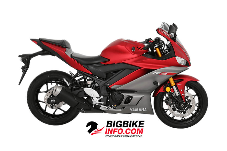 สีแดง - เทา Yamaha YZF-R3 2019