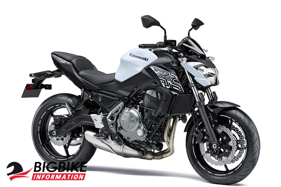 Kawasaki Z650 2019 สีขาว