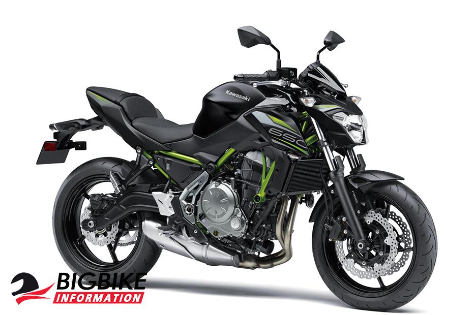 ภาพ Kawasaki Z650 2019 สีดำ