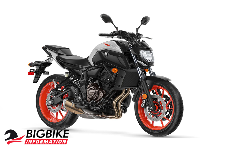 Yamaha MT-07 2019 สีเทาอ่อน