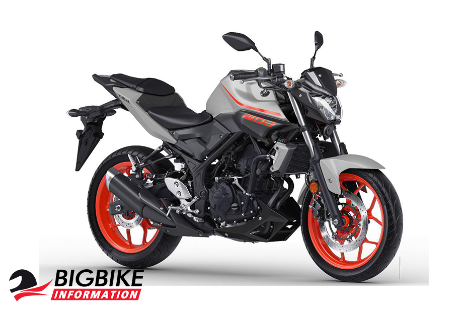 Yamaha MT-03 ABS ปี 2019 สีเทาอ่อน