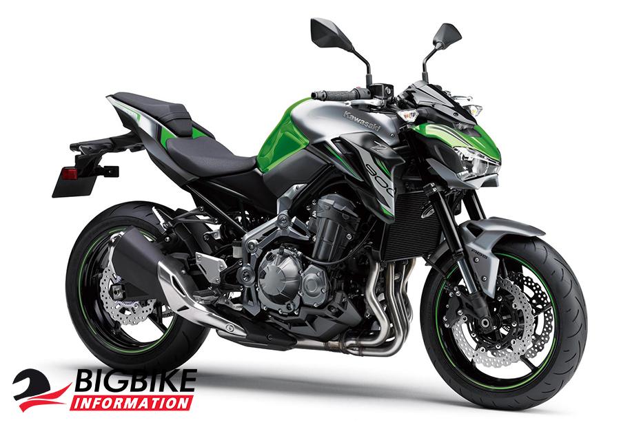 Kawasaki Z900 2019 Candy Lime Green / Metallic Matte Graphite Gray