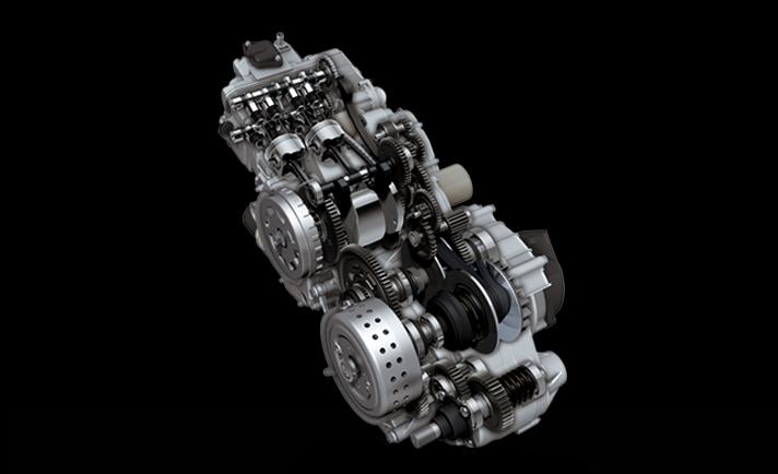 เครื่องยนต์ 4 จังหวะ 2 สูบ DOHC 8 วาล์ว ขนาดเครื่องยนต์ 638 ซีซี