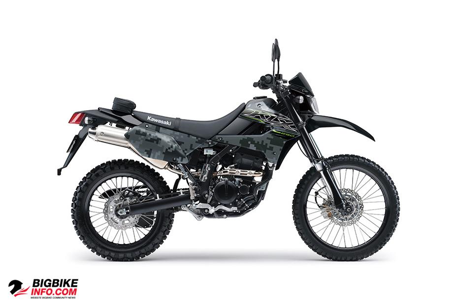 Kawasaki KLX 250 Matrix Camo Gray