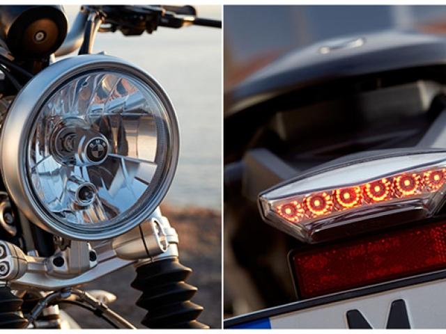 ไฟหน้าทรงกลมเดี่ยวขนาดใหญ่ ไฟท้ายออกแบบให้สวยงาม ใช้ไฟเป็นแบบ LED ทั้งหมด