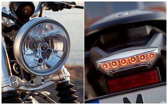 ไฟหน้าและไฟท้าย ไฟเป็นแบบ LED
