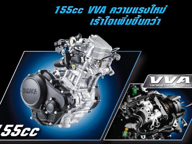 เครื่องยนต์ตัวใหม่ 1 สูบ 4 จังหวะ SOHC ขนาดเครื่องยนต์ที่ให้มาขนาด 155.1 ซีซี