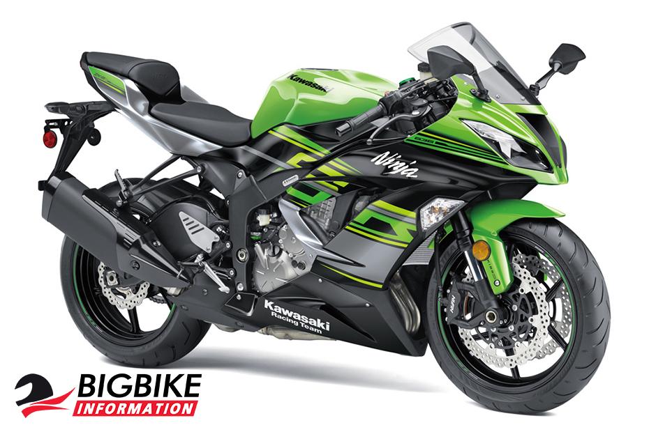 ninja zx-6r ปี 2018 สีเขียว