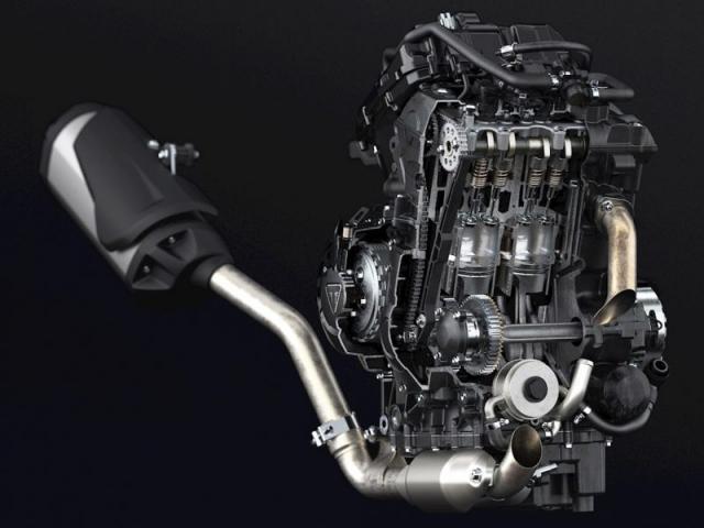เครื่องยนต์ 3 สูบ แถวเรียง 4 จังหวะ DOHC 12 วาล์ว ขนาดเครื่องยนต์ 800 ซีซี