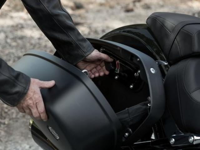 กระเป๋าด้านข้างที่มีตัวล็อกและถอกออกได้