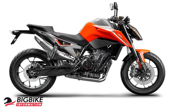 KTM 790 Duke สีส้ม