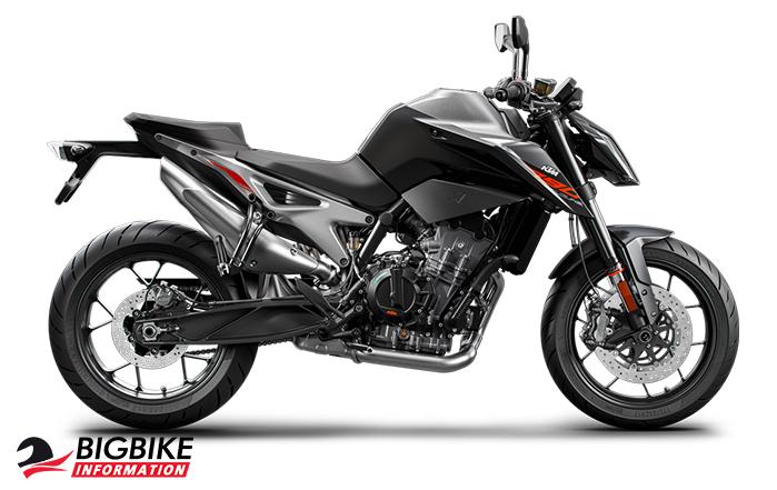 KTM 790 Duke สีดำ-เทา
