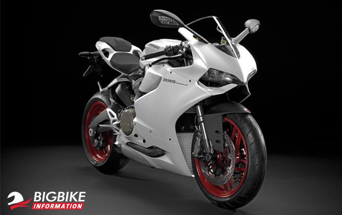 Ducati 899 Panigale สีขาว