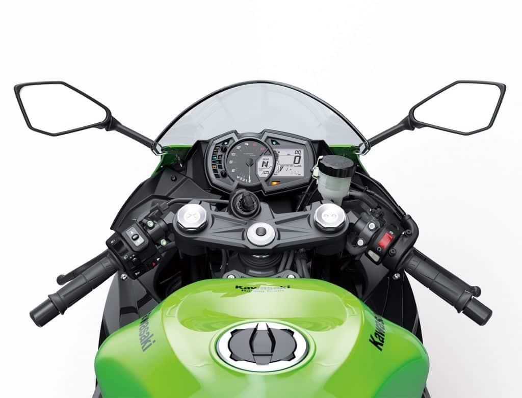 ส่วนของจอ แฮนด์และภายใน Kawasaki ZX-6R 2019