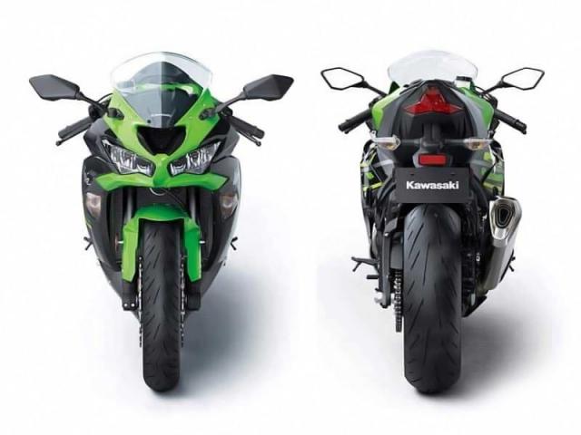 ด้านหน้า และ ด้านหลัง Kawasaki ZX6R 2019