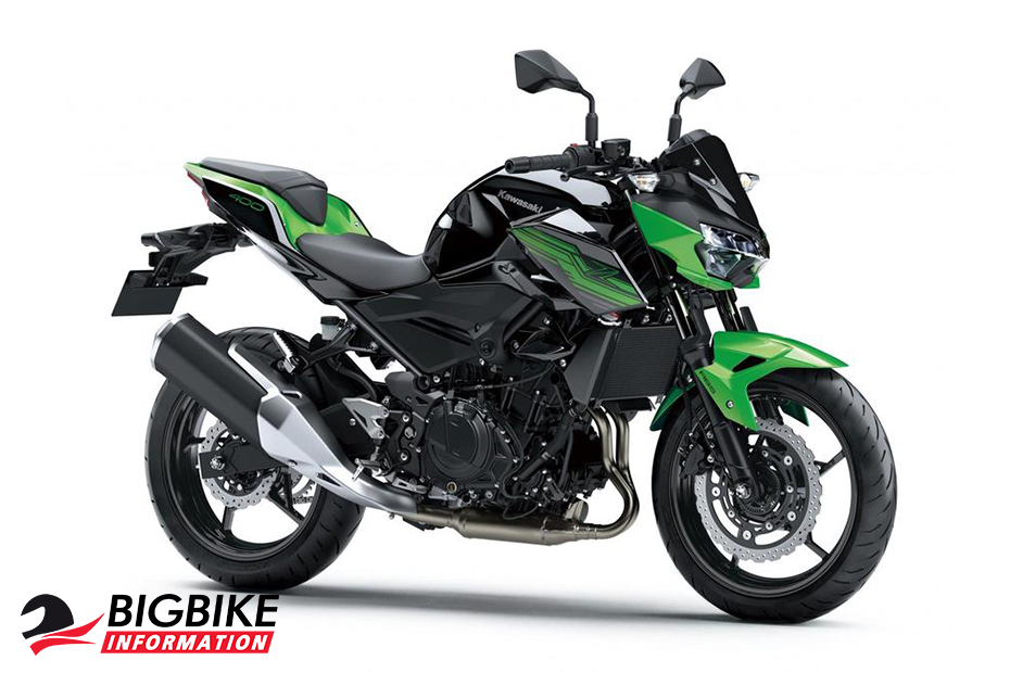 Kawasaki Z400 2019 สีเขียว