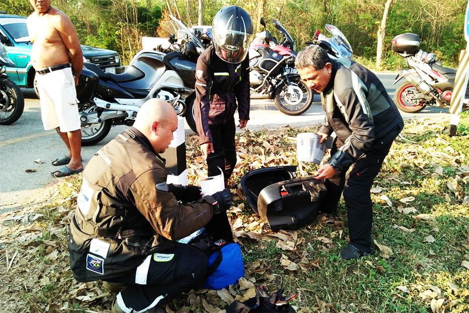 อุบัติเหตุหนุ่มใหญ่ชาวมาเลเซียขี่บิ๊กไบค์ชน