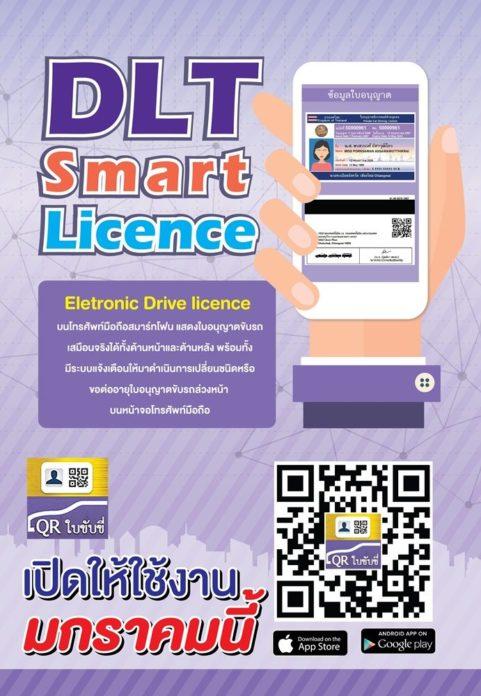QR Code สำหรับการโหลดใบขับขี่ดิจิตอล